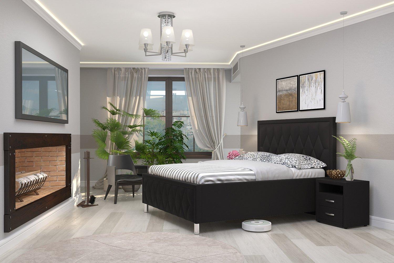 дизайн спальни с белой кроватью фото