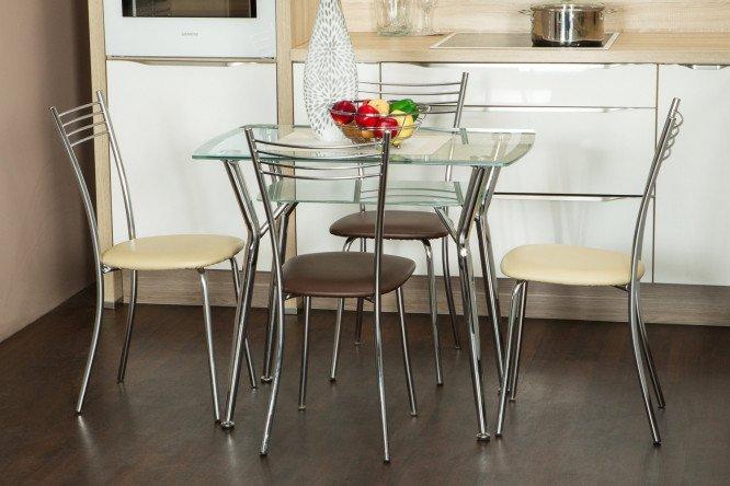 Стеклянные обеденные столы фото