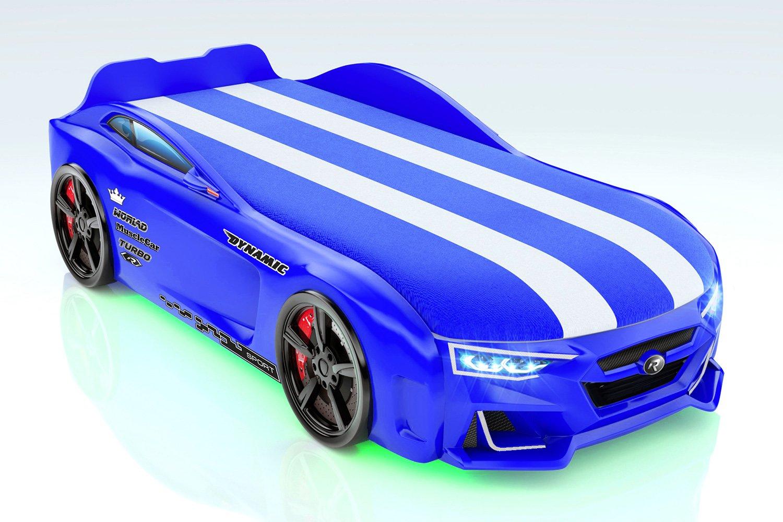 Кровать-машина с подъёмным механизмом и полосками Dynamic M фото