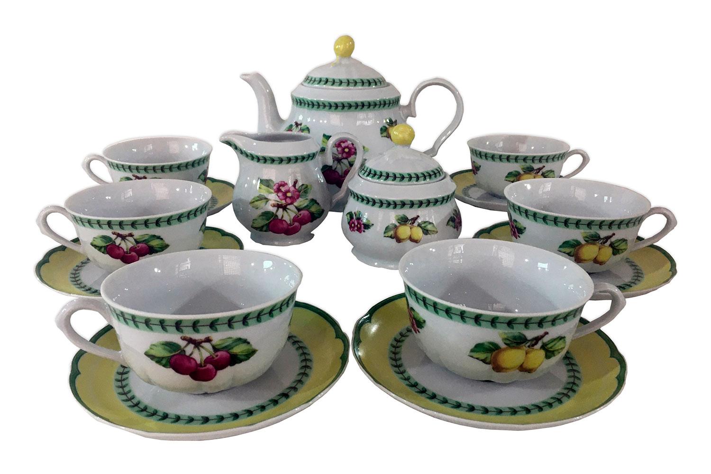 Чайный сервиз на 6 персон Роза