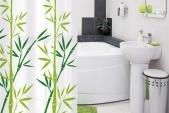 Шторки для ванной Bamboo green