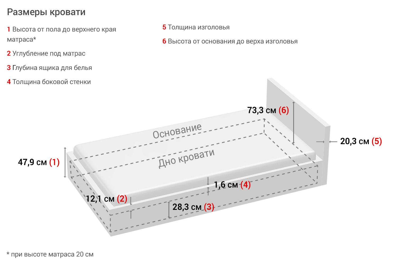 Картинка - Кровать без подъёмного механизма Морена