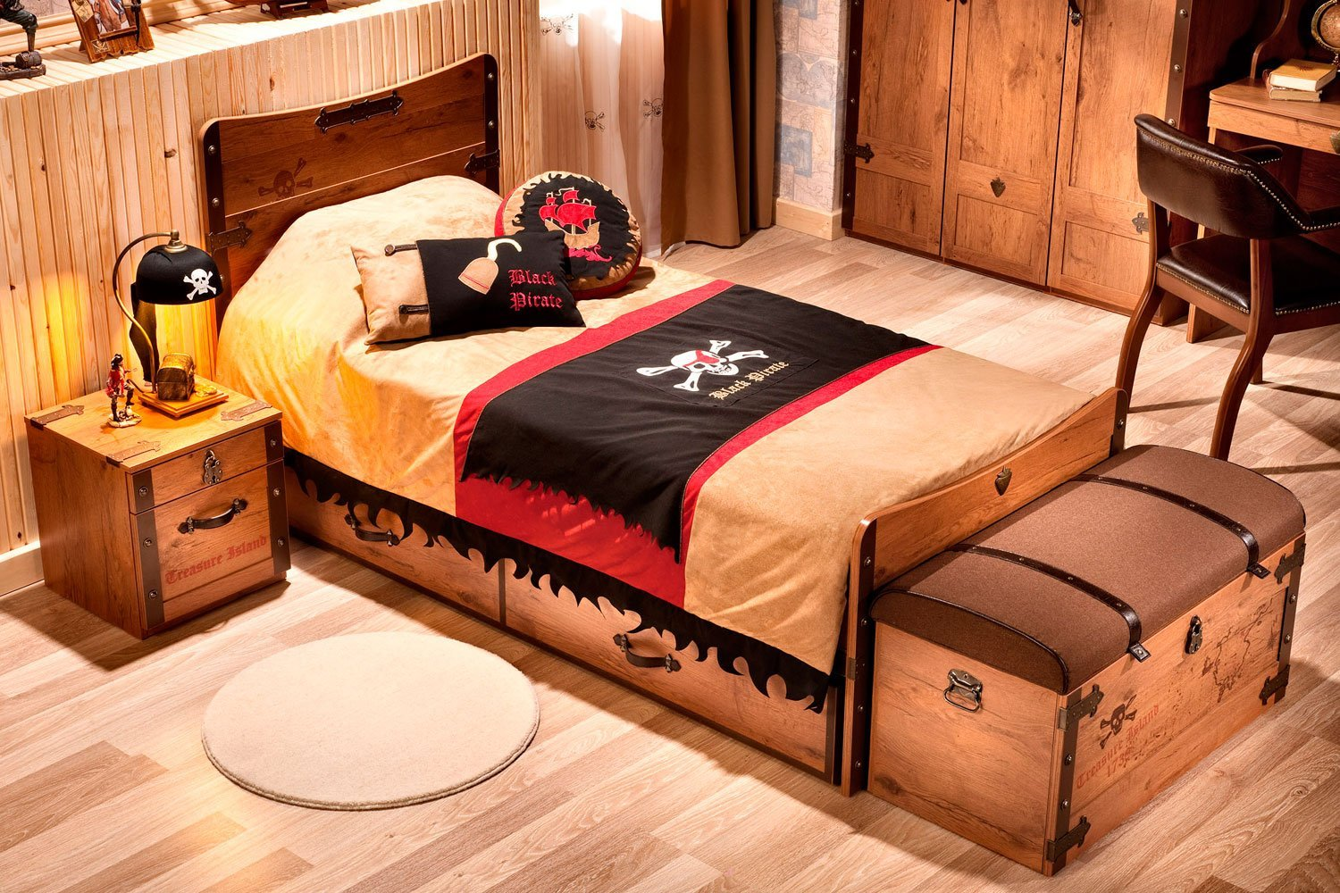 Best Design For Pirate Ship Twin Bed. Pirate Gemi Karyola. 100 ...
