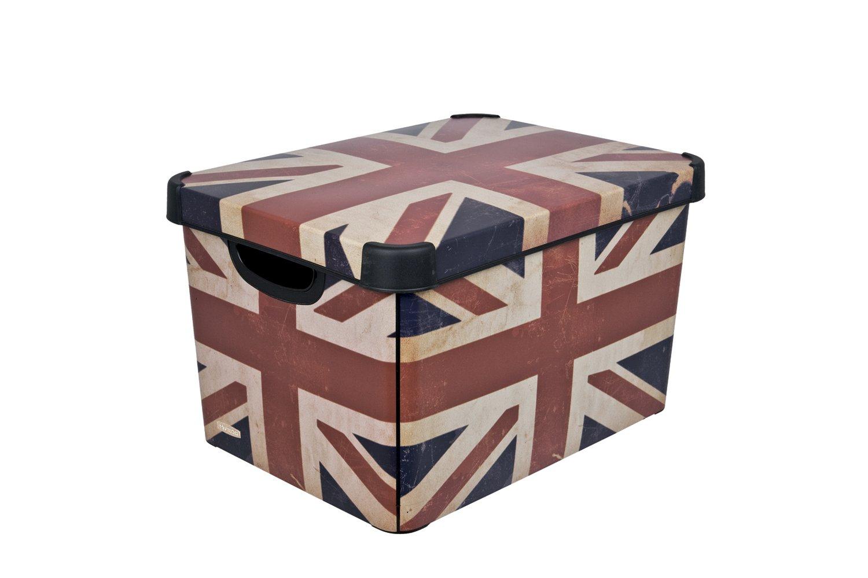 Curver Декоративная коробка Stockholm British flag