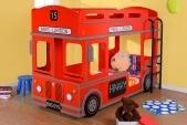 Кровать двухъярусная London Bus Hoff: европейский гипермаркет мебели и товаров для дома, интернет-магазин мебели 29990.000