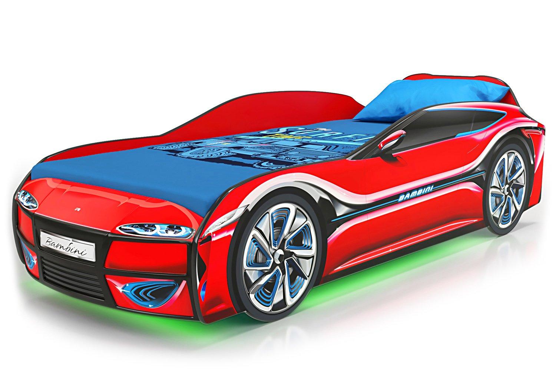Детская кровать-машина Bambini 1100