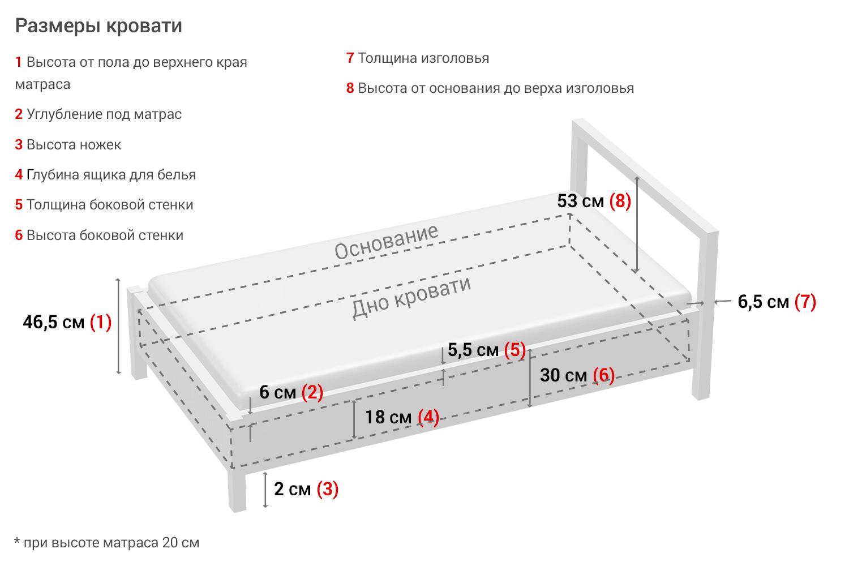 Кровать с подъёмным механизмом Mila