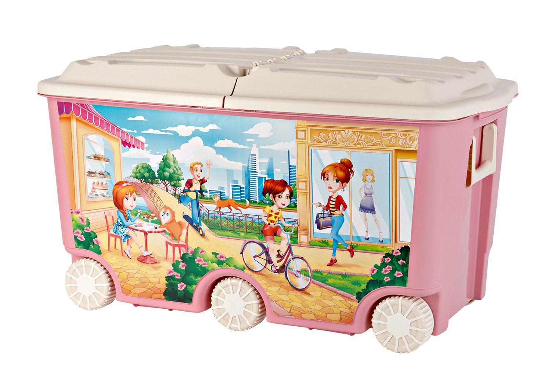 Ящик для игрушек с крышкой Пластишка фото