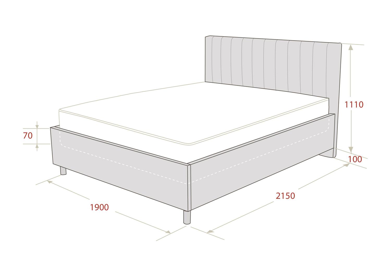 Картинка - Кровать с подъёмным механизмом Garda