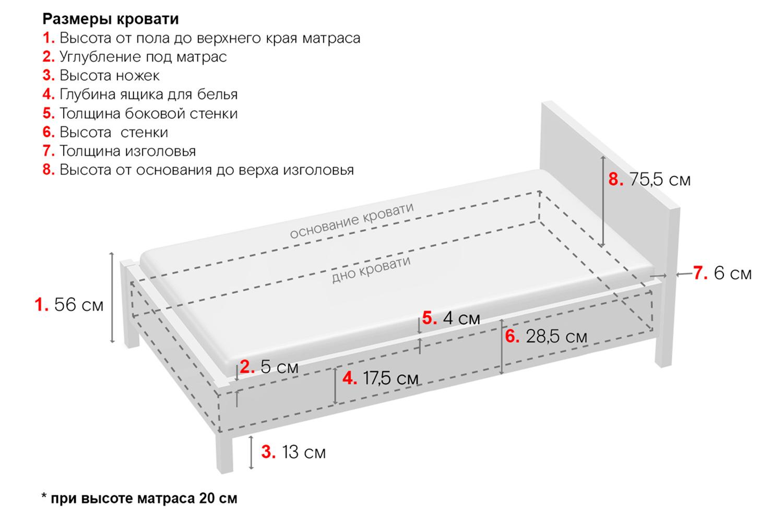 Картинка - Кровать c подъёмным механизмом Elsi