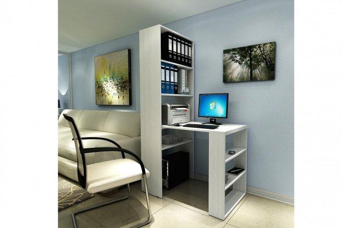 Письменный стол со стеллажом рикс белый - купить в интернет-.