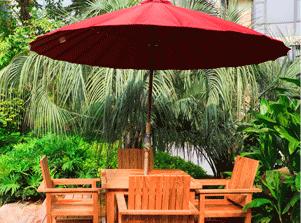 Садовые зонты и подставки